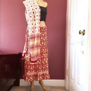 Dresses & Skirts - 2pc Cotton Tie Skirt & Scarf OS
